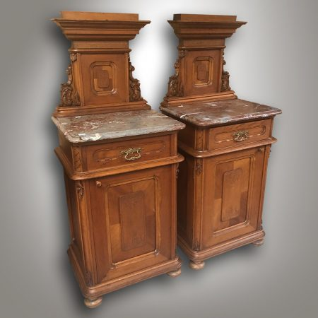 Pair of bedside tables - Vienesse baroque , 1880