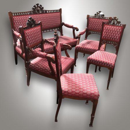 Art Nouveau seating set / Antique shop - Nový Antik Bazar